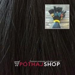 Európai keratinos póthaj hőillesztéshez, fekete 60cm