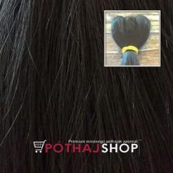Európai tresszelt póthaj, fekete 60cm